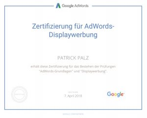 Google Adwords Zertifikat Displaywerbung
