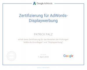 Google Adwords Zertifikat Displaywerbung