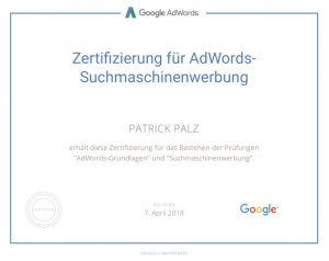 Google Adwords Zertifikat SEA