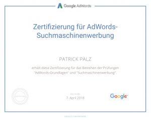 Google Adwords Zertifikat SEA