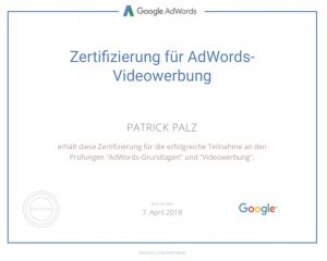 Google Adwords Zertifikat Video